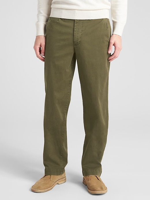 Gap Mens Vintage Khakis in Relaxed Fit with GapFlex
