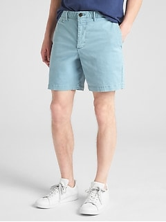 "7"" Washwell Vintage Wash Shorts with GapFlex"