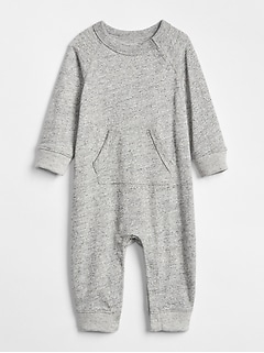 Marled Pocket One-Piece