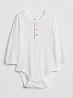 Henley Long Sleeve Bodysuit