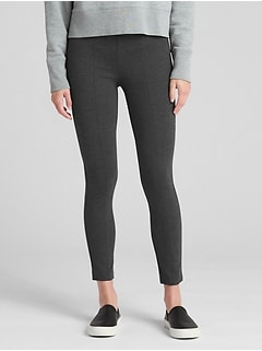Side-Zip Ponte Leggings