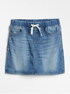 Pull-On Denim Skirt