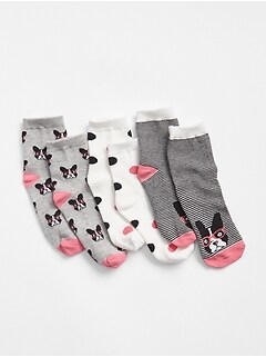 Frenchie Crew Socks (3-Pack)
