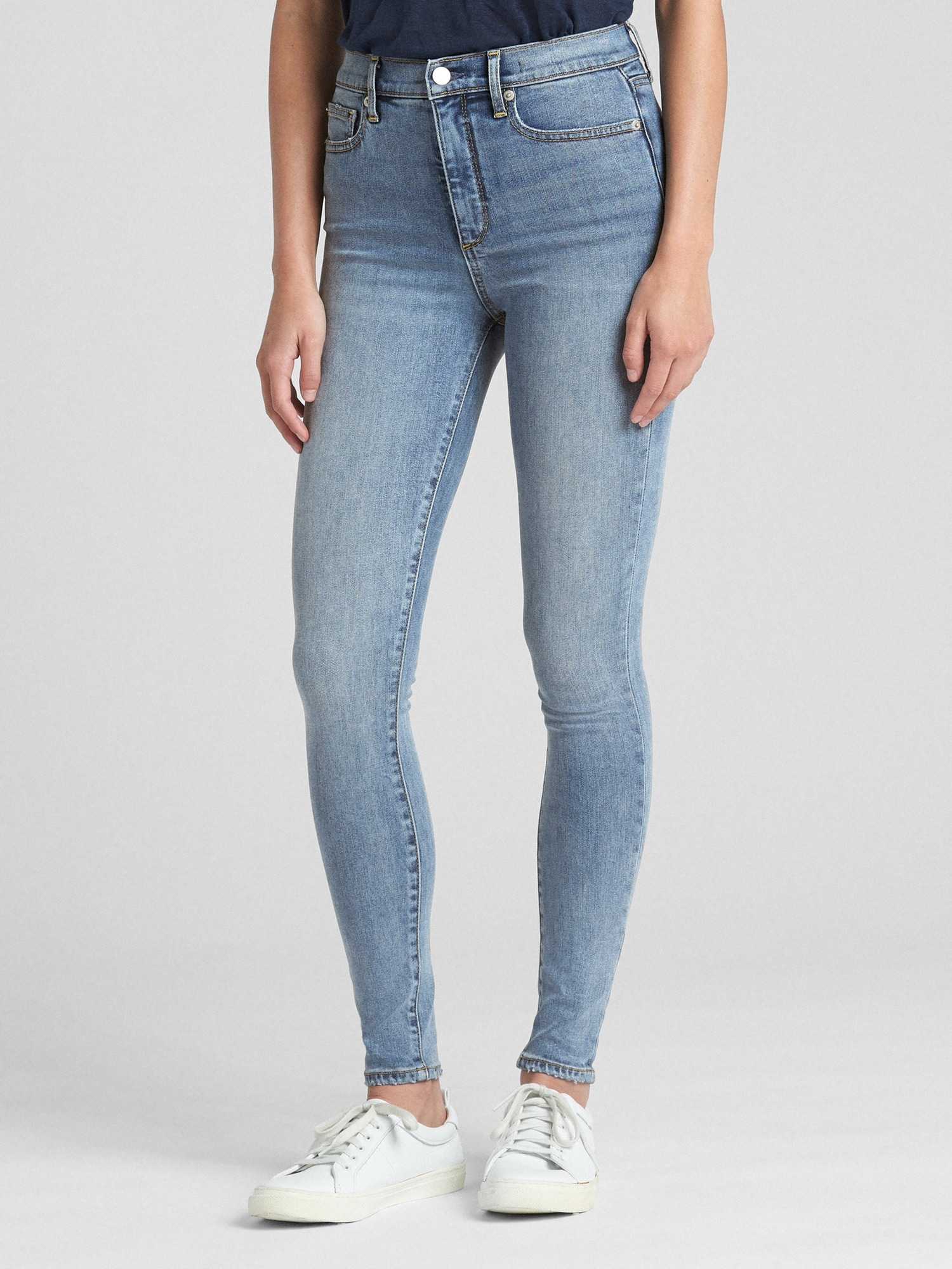 Fashion style Gap rise high skinny jeans for lady