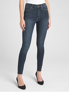 Soft Wear High Rise True Skinny Jeans with Secret Smoothing Pockets