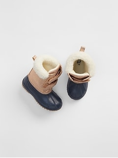 Metallic Sherpa Duck Boots