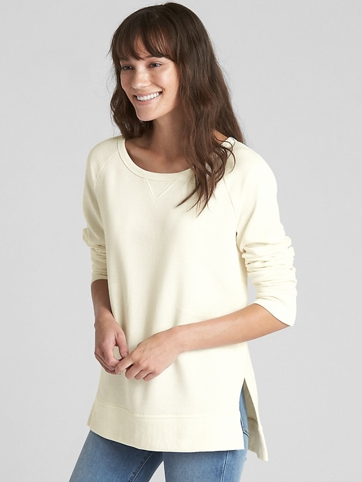 Raglan Sleeve Pullover Sweatshirt Tunic by Gap