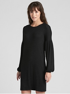 Softspun Balloon Sleeve T-Shirt Dress