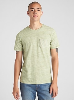 Mix-Fabric Pocket T-Shirt