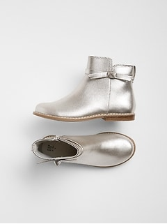 Metallic Bow Boot