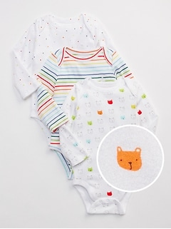 First Favorite Bear Long Sleeve Bodysuit (3-Pack)