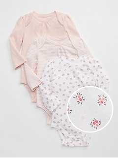 First Favorite Floral Long Sleeve Bodysuit (3-Pack)