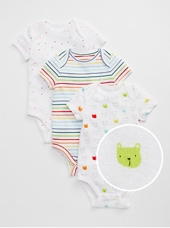 First Favorite Bear Stripe Bodysuit (3-Pack)