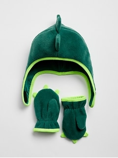 Fleece Trapper Hat Set