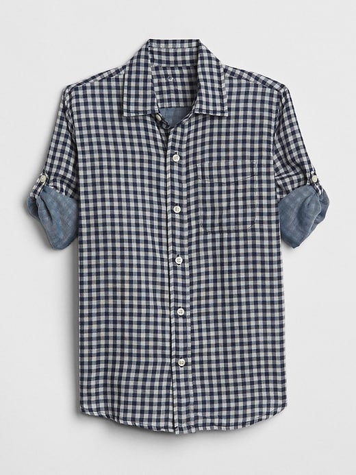 Double Weave Convertible Shirt by Gap