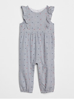 Stripe Dot Flutter One-Piece