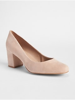 Block Heels in Suede