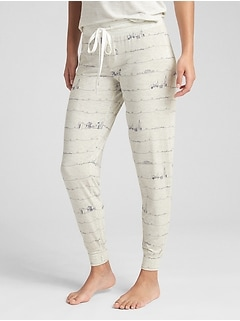 Print Joggers in Modal