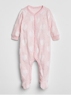 Baby First Favorite Print Footed One-Piece