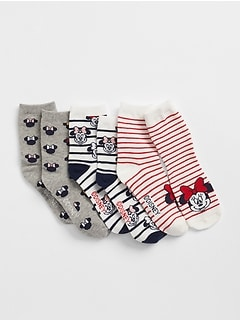 GapKids &#124 Disney Minnie Mouse Crew Socks (3-Pack)