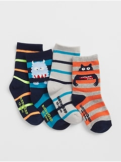 Monster Crew Socks (4-Pack)