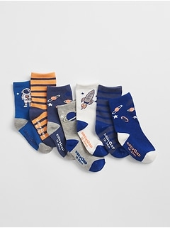Days-of-the-Week Space Crew Socks (7-Pack)
