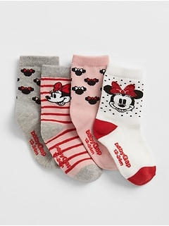 babyGap &#124 Disney Minnie Mouse Socks (4-Pack)