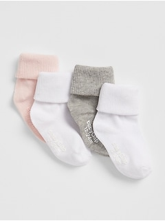 Toddler Roll Crew Socks (4-Pack)