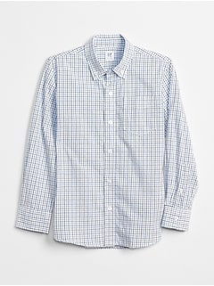 Uniform Poplin Long Sleeve Shirt in Plaid