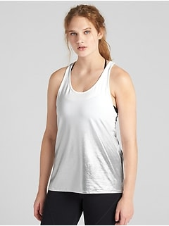 GapFit Breathe Metallic Tank Top