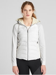 GapFit Lightweight Puffer Vest with Hidden Hood
