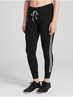 GapFit Blackout Drawcord Side Stripe 7/8 Leggings