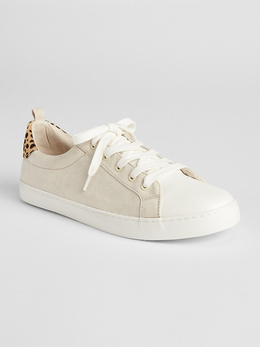 Mix Fabric Lace Up Sneakers by Gap