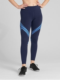 GFast Mid Rise Print Insert 7/8 Leggings in Eclipse