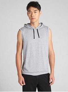 GapFit Brushed Tech Sleeveless Hoodie