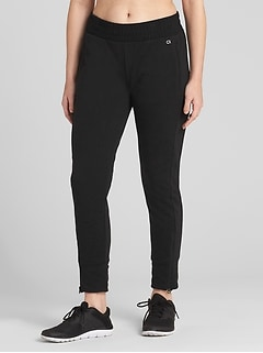 GapFit All-Elements Fleece Side-Zip Joggers