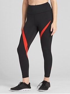 GFast High Rise Spliced Stripe 7/8 Leggings in Eclipse