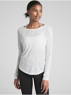 GapFit Long Sleeve Cross-Back T-Shirt