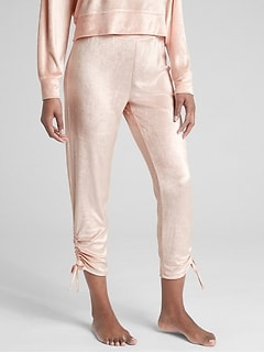 Side-Tie Lounge Pants in Velour