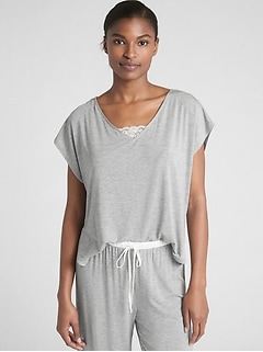 V-Neck T-Shirt in Modal
