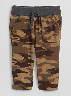 Baby Camo Cord Pull-On Pants