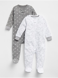 Cloud Footed One-Piece (2-Pack)