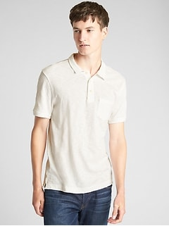 Slub Jersey Polo Shirt