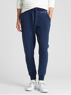 Gap Logo Indigo Joggers in French Terry