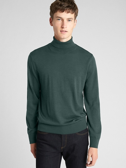 Turtleneck Pullover Sweater In Merino Wool by Gap