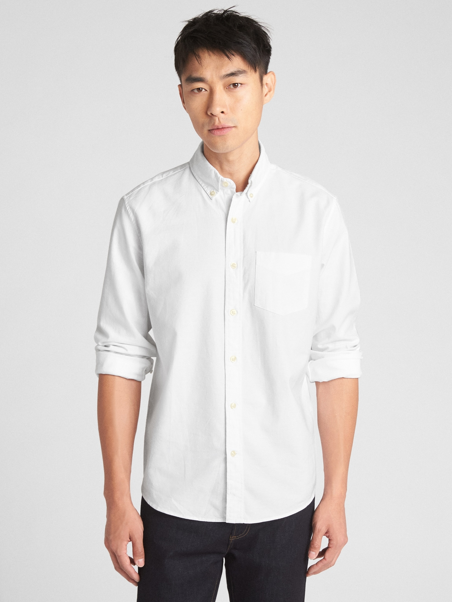 Untucked Oxford Shirt In Stretch Gap
