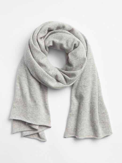 Gap Womens Cashmere Blanket Scarf Medium Grey Size One Size