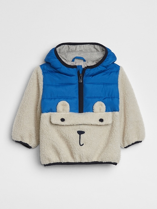 Sherpa Graphic Pullover Jacket by Gap