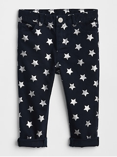Star Foil Girlfriend Jeans