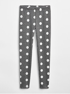 Print Leggings in Fleece